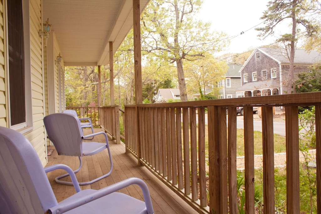 Have a seat on any of the porch chairs and relax with a nice cold glass of whatever's on tap.