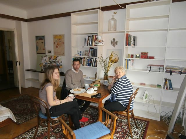 Me, Zbynek, and my girlfriend, Lucy, mostly occupying this 70m2 flat =) + mum visiting us sometimes =)