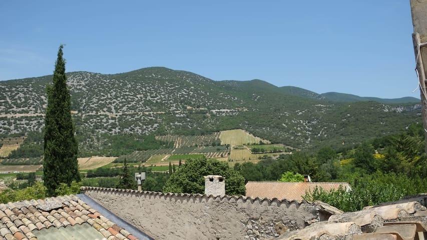 Vue de la terrasse (à gauche)