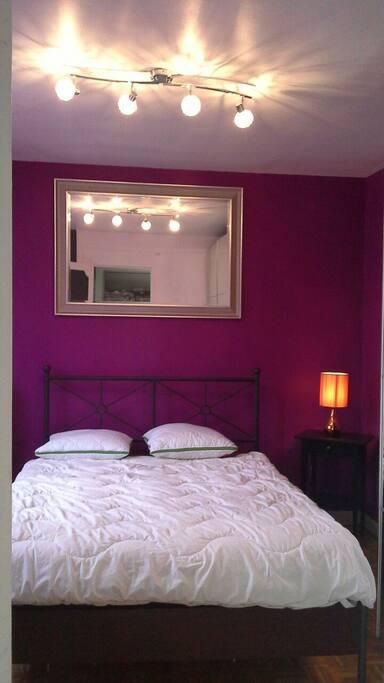 Belle chambre double vitrage