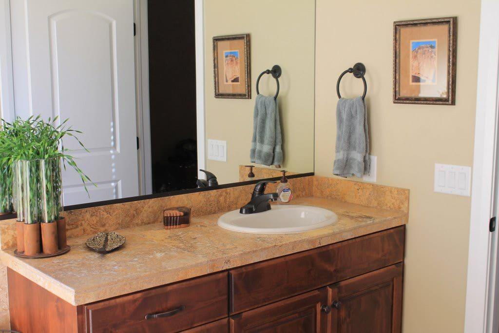 1 of 2 sink/counter areas in master bath