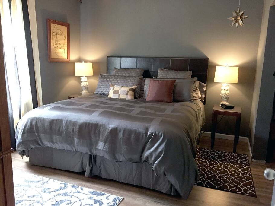 Main bedroom with comfy king size bed