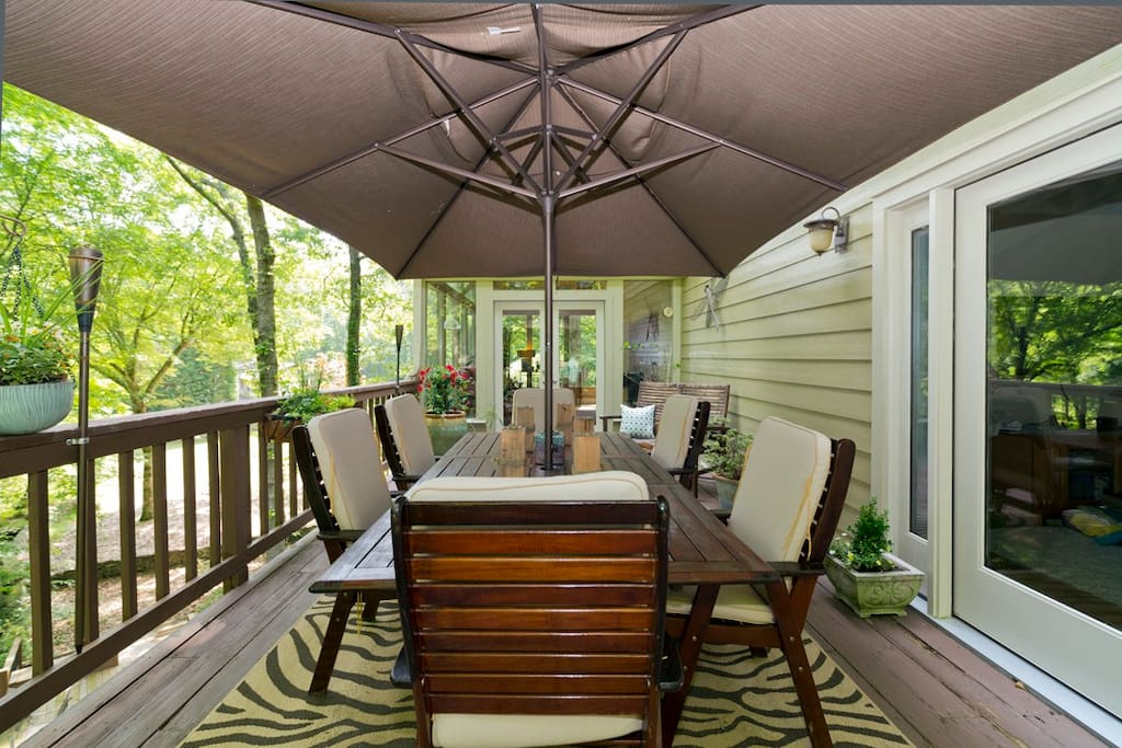 The outdoor deck that is off the Master Suite on main floor.