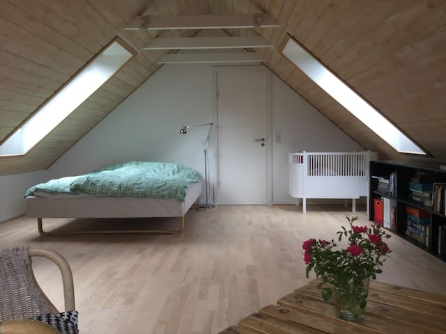 Stort værelse (30 m2) med bad - Risskov - Huis