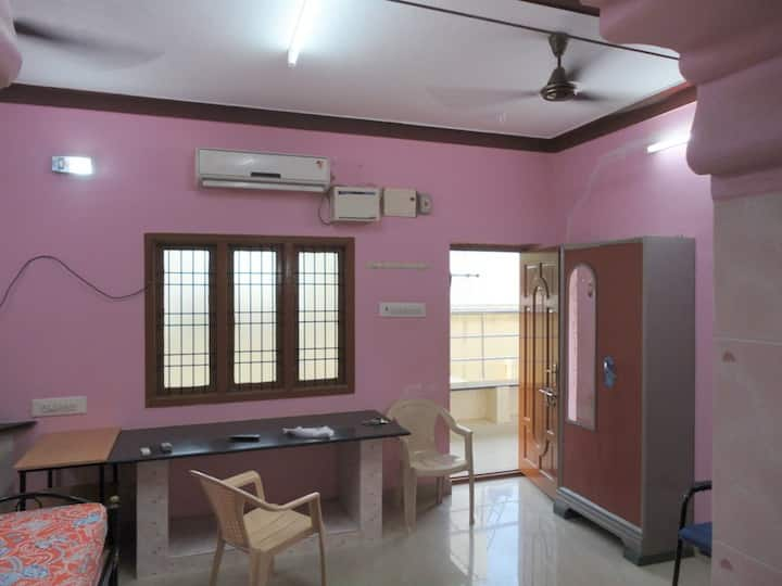 Fully furnished Studio apartment with AC.