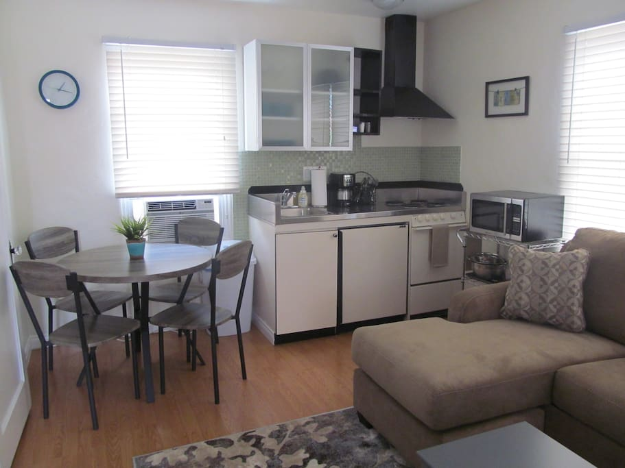 small kitchen and dining area