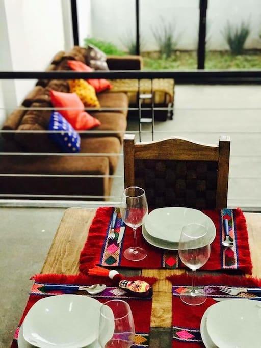 Sala y comedor vista panorámica