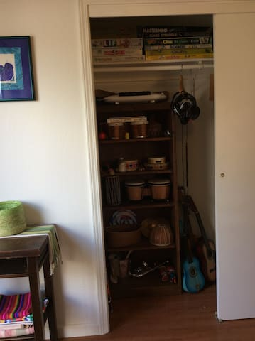 Musical Instruments and Games Closet.