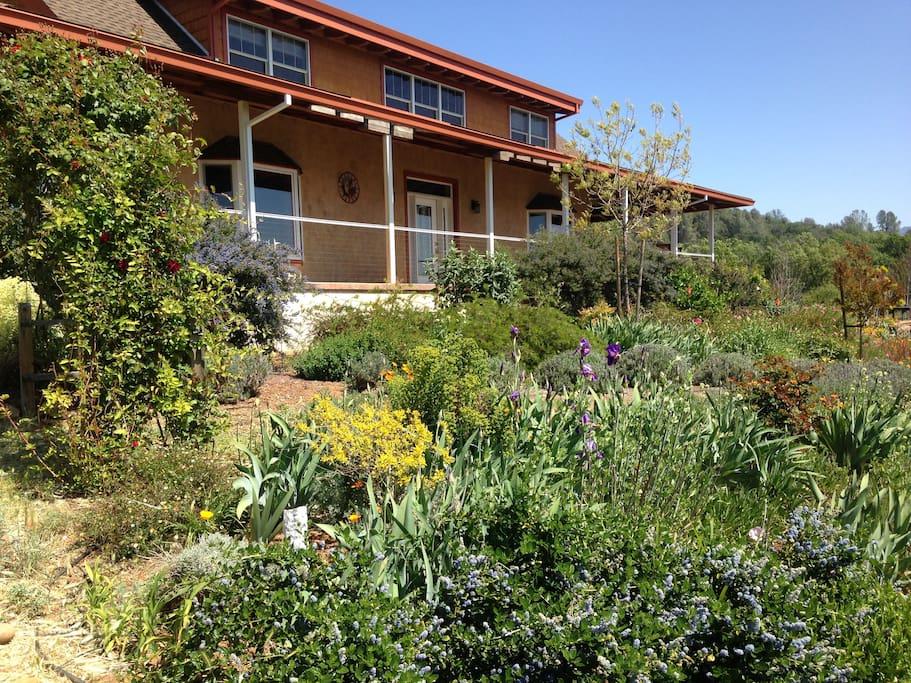 Our solar home has many gardens.