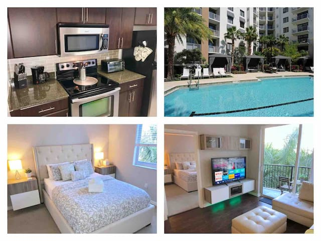 ☀️Luxury Resort Style 2 Bedroom FtLauderdale Condo☀️