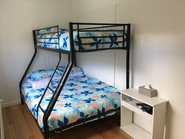 Close to Box Hill Central, 109 tram --Bunk beds