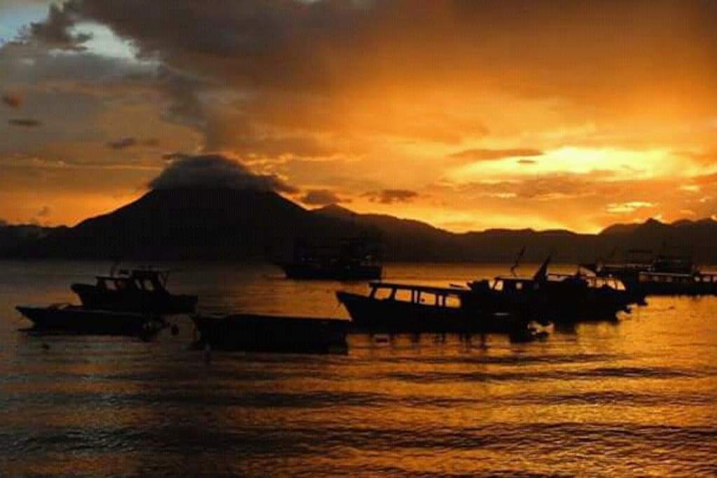 Lake Atitlan sunsets.