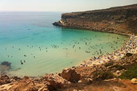Graziosissimo bilocale 2 in centro, fronte mare! - Lampedusa