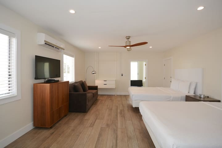 Two Queen Size Beds Suite with Kitchen