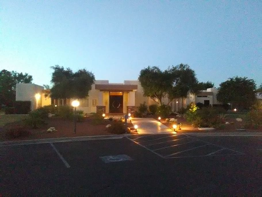 Main clubhouse at night