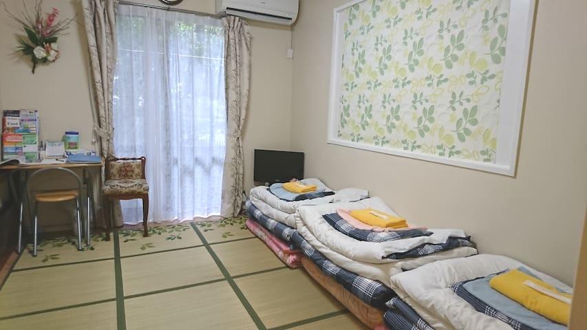 S-3 貸切!便利!清潔!花小金井駅徒歩2分,新宿25分,JR日暮里40分,Wi-Fi有,1階