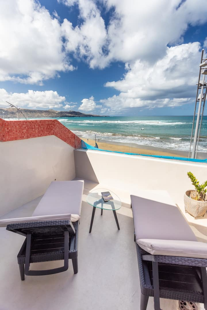 Nice beach views with terrace By CanariasGetaway