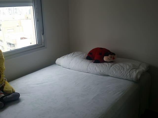 Quarto com Cama de Casal em Apartamento no Morumbi - São Paulo - Wohnung