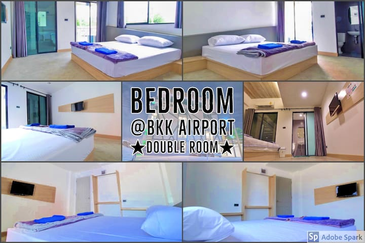 ★Double Room★✈️10min to BKK Airport%Convenience