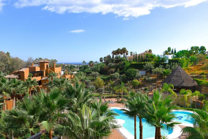 Luxury Two Bedroom Duplex In The Heart of Nueva Andalucia Golf Courses!.