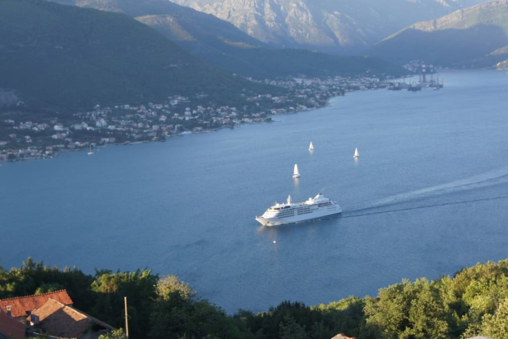 View from the roof terrace of the UNESCO World Heritage site of Kotor Bay