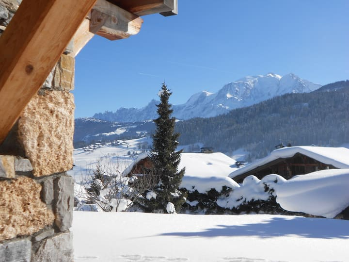 Stunning Chalet facing Mont-Blanc