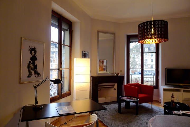 Appartement de 2 pièces d'angle au centre ville