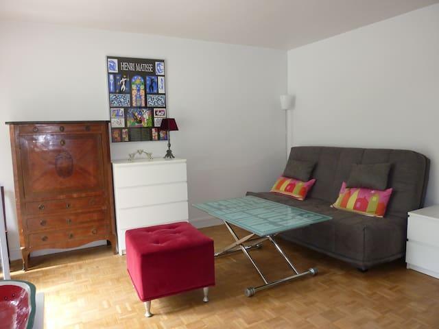 studio lumineux et calme de 25 m2