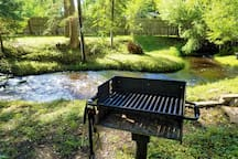Charcoal park side grill for all your barbecuing needs.