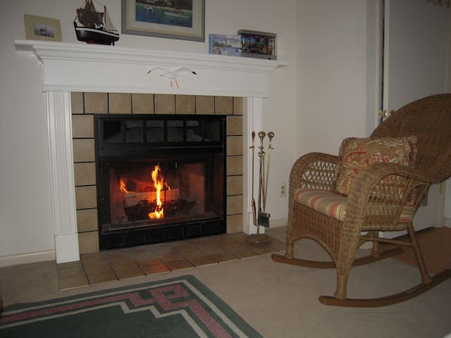 Wood burning fireplace needs repair. not for use until fixed