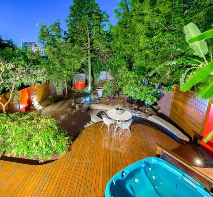 Balinese style garden with spa