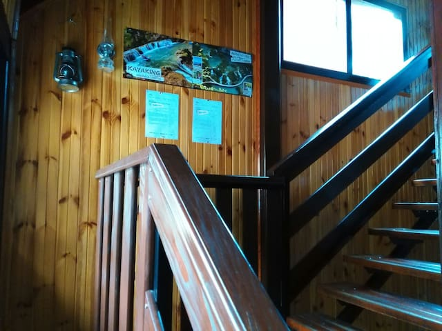 Stairs that leads to 1st floor where you will stay. You have separate entrance and own keys.