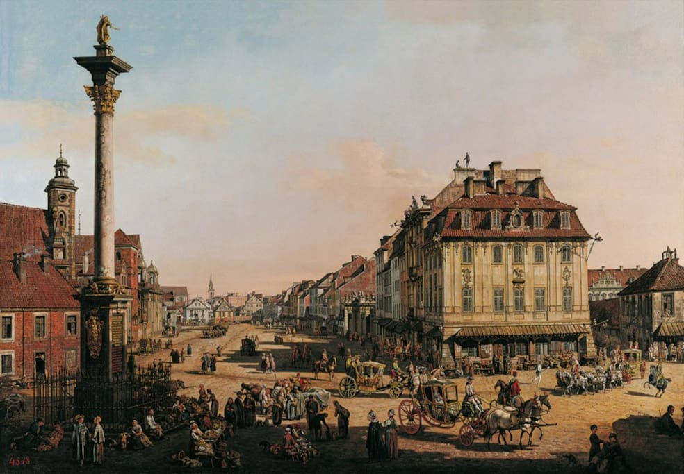 Castle Square, Warsaw by Bernardo Bellotto 240 years ago.