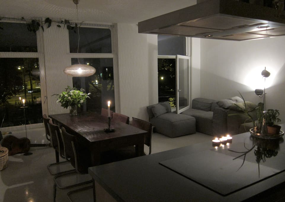 Living room by night.