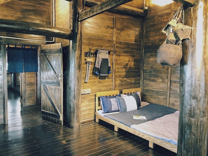 Wooden Home- Mountain view bedroom @Amazing Sapa M