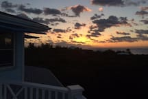 Sunrise over the Atlantic from top deck off master bedroom
