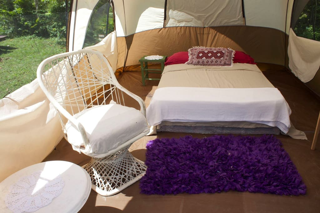 Our Glamping Tent.