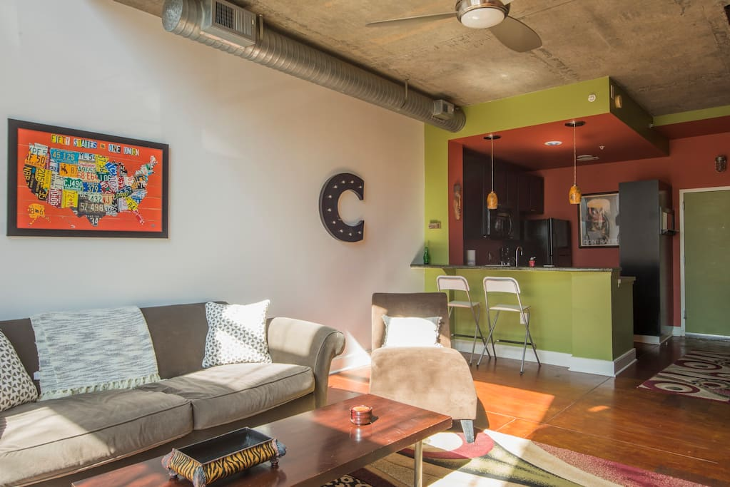 """"""" If this place is available for your stay in Charlotte, just go ahead and book it. Be the envy of your following when you post the sun coming through the wall of window."""" - Brandie"""