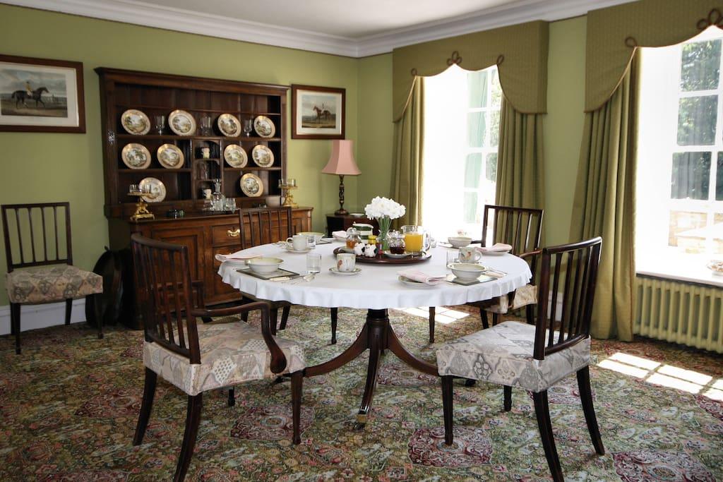 Your breakfast room.