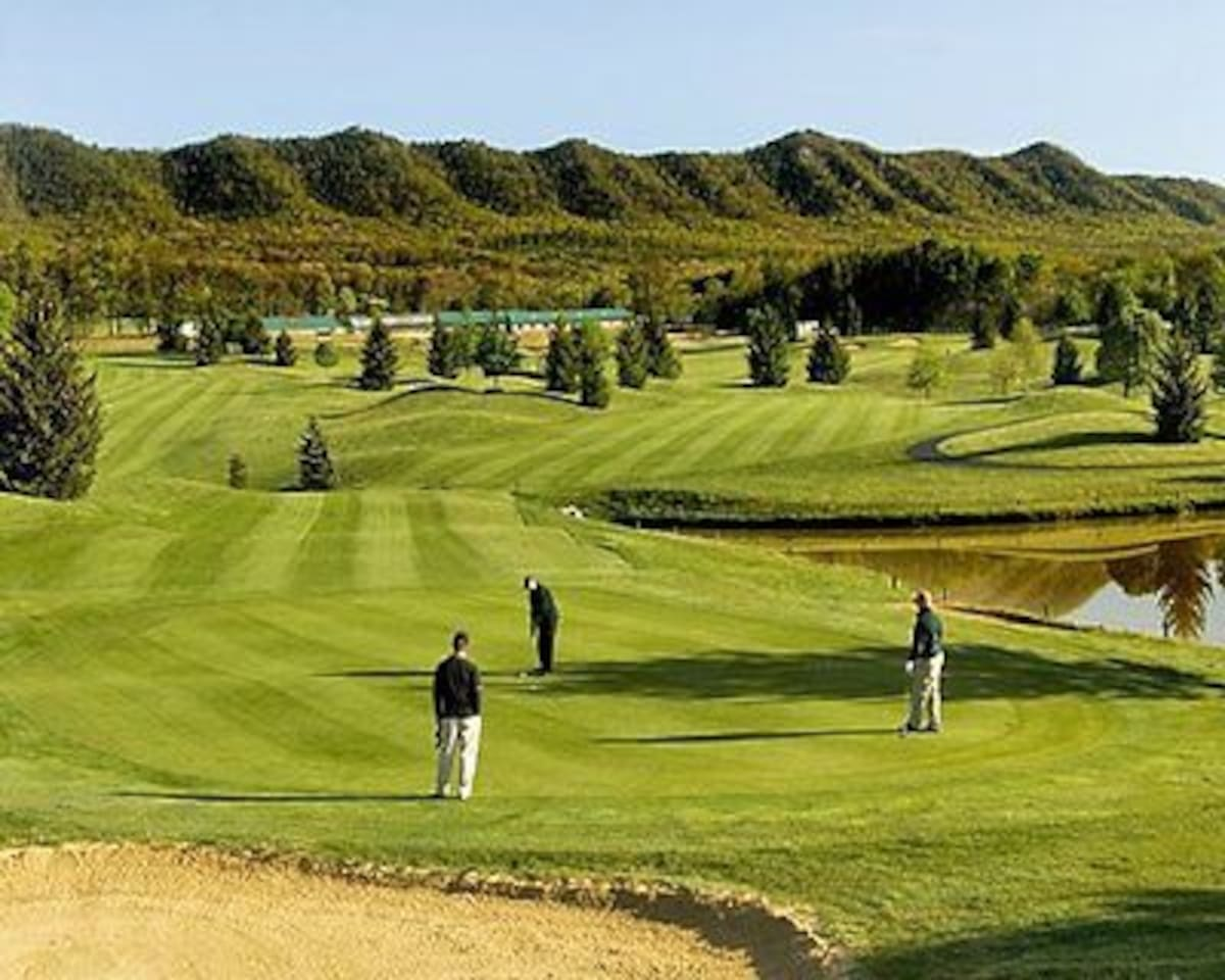 This four seasons resort has a golf course and many other activities.