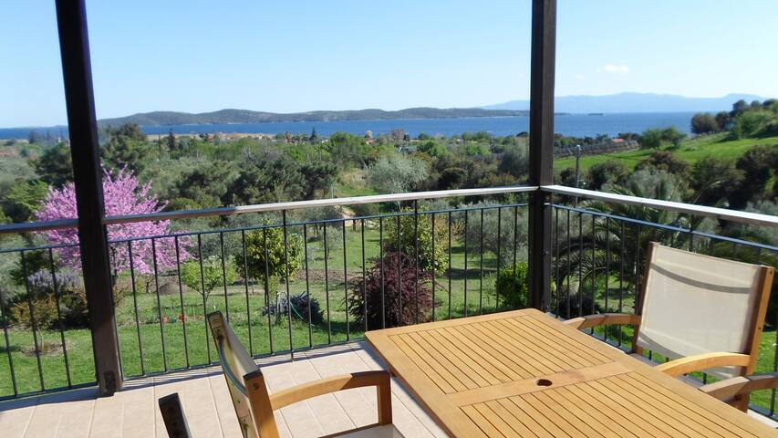 villa great for friends and families,View to Athos