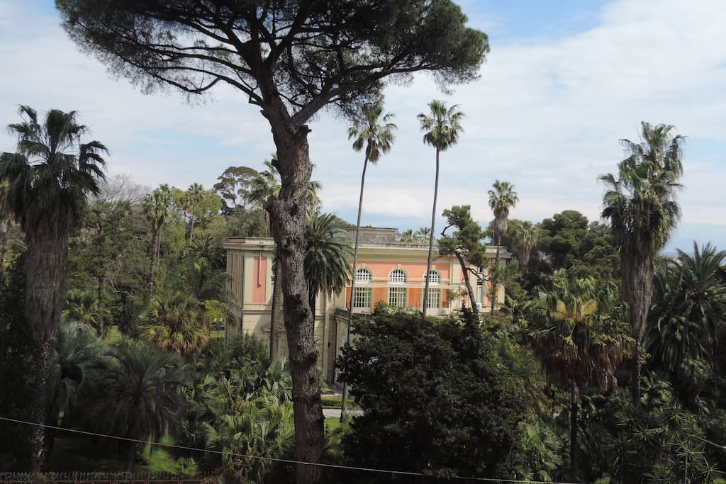 Dal balcone visione quasi completa dell'Orto.