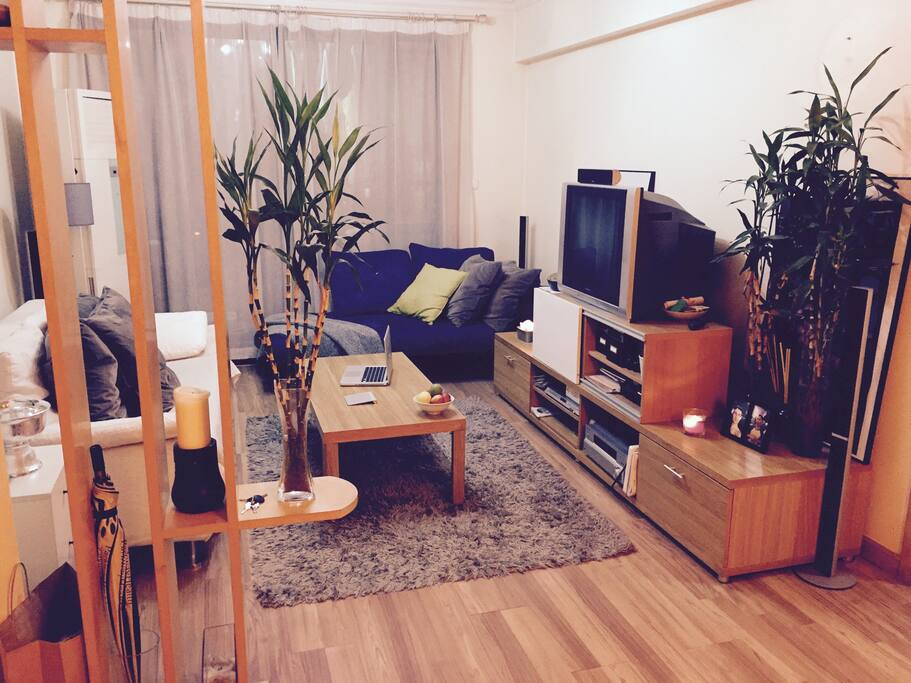 A zen living area for relaxation. Surf the internet or watch a movie from our huge dvd collection.