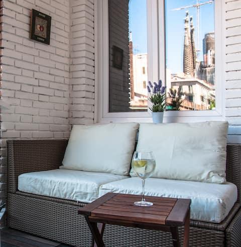 Moderno apartmento Sagrada Familia (HUTB-010754)
