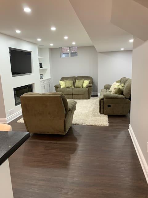 New two bedroom basement.