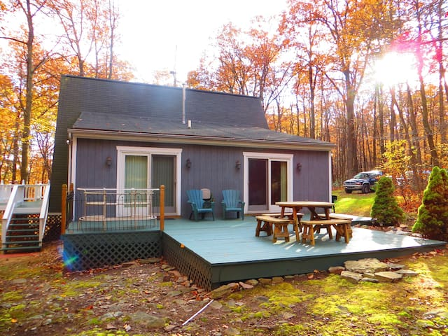 Side deck great for picnic or relaxing