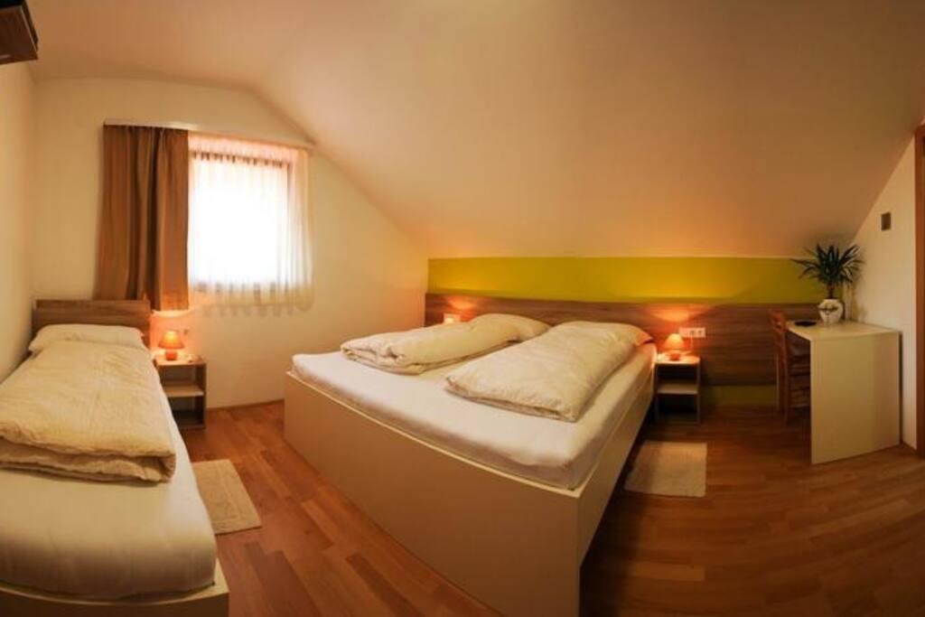 Triple green room