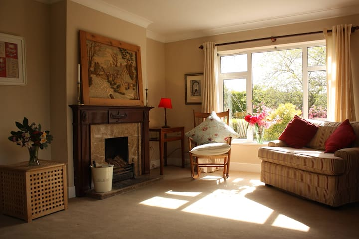 sitting room with view to gardens