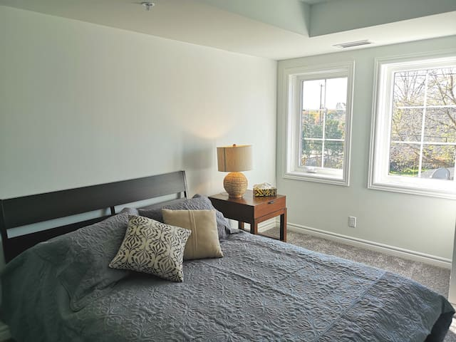 A cozy apartment, walking distance from downtown.