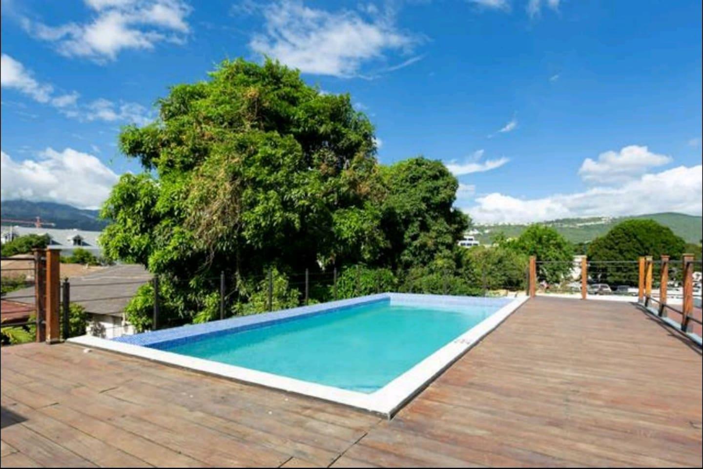 Beautiful pool with mountain views
